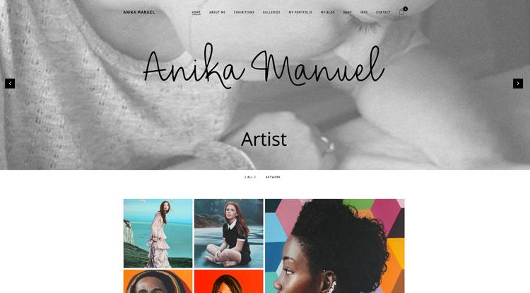 Anika's New Website