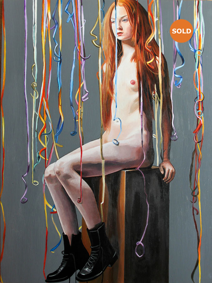 Nude With Streamers LG SOLD