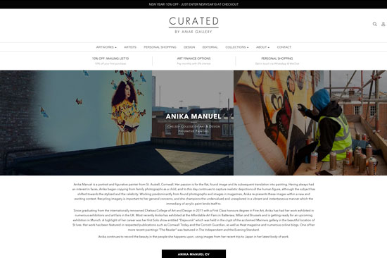Curated by Amar Gallery Website