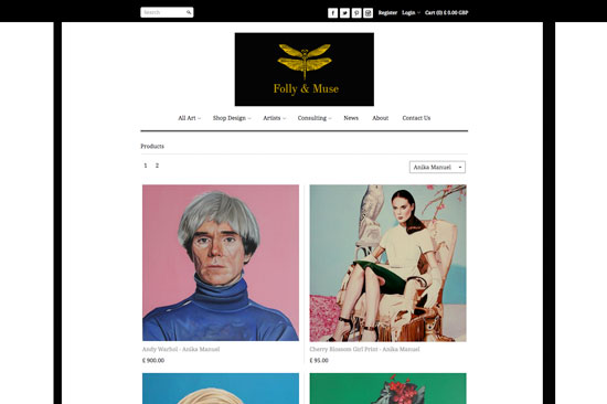 Folly and Muse Website